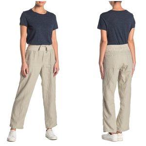 NWT James Perse Linen Utility Khaki Pants XL
